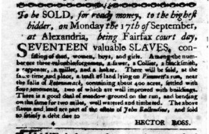 Virginia Gazette Advertisement
